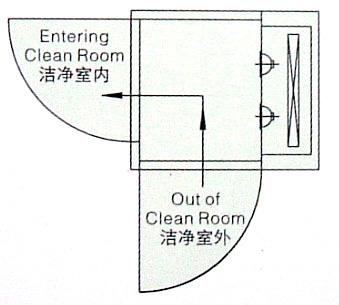 非标风淋室平面图
